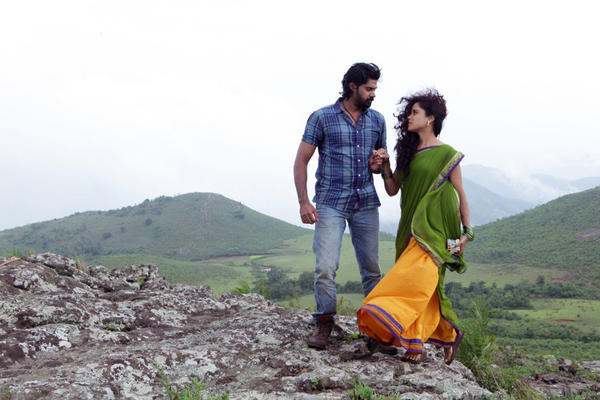 Piaa Bajpai And Naveen Romance Pic In New Telugu Movie Dalam