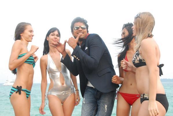 Allari Naresh Song Still With Hot Bikini Babes In Kevvu Keka Movie