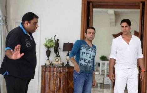 Akshay Kumar And Tamanna Bhatia On Sets Of Its Entertainment