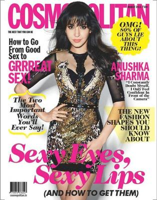 Anushka Sharmas Cover Photoshoot Forcosmopolitan India August 2013