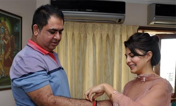 Jacqueline And Sonu Raksha Bandhan Celebration Still