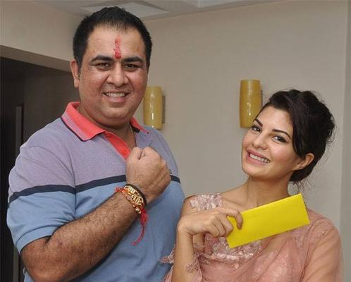 The Stunning Jacqueline Celebrated Raksha Bandhan With Her Manager Sonu