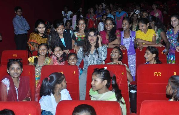 Priyanka Attends A Screening Of Planes With Underprivileged Girls