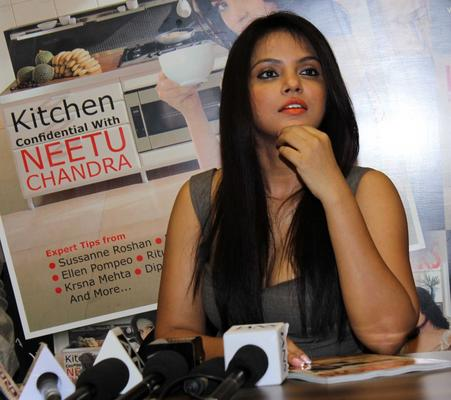 Neetu Chandra Addresses The Media At The Launch Of Society Interiors Magazine Cover September 2013 Issue