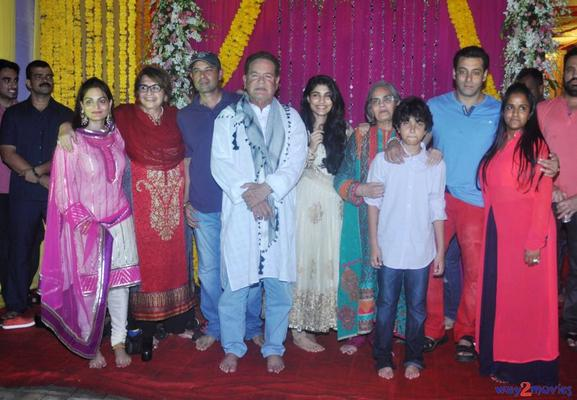 Stars At Arpita's Ganpati Celebrations 2013
