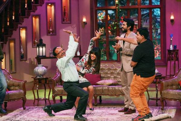 Priyanka Chopra And Ram Charan At Comedy Nights With Kapil Show