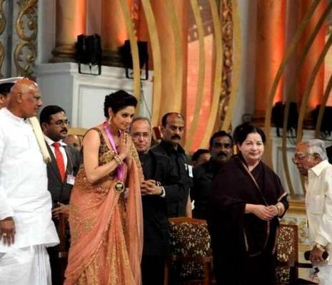 Sridevi At 100 Years Of Indian Cinema Celebration Closing Ceremony