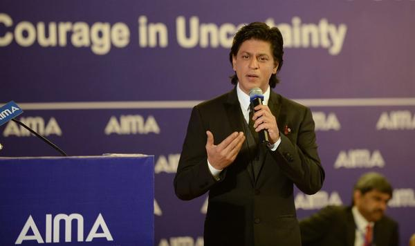 Shahrukh Khan Speeches At The 40th AIMA's National Management Convention