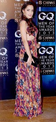 Shazahn Padamsee Stunning Pose At GQ Men Of The Year Awards 2013