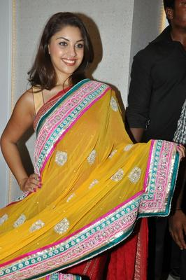 Richa Gangopadhyay Shows A Yellow Saree At Priyanka Showroom Launch Event In Hyderabad