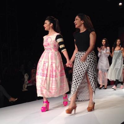 Actress Alia Bhatt Walks The Ramp For Designer Masaba Gupta During The Wills India Fashion Week 2014
