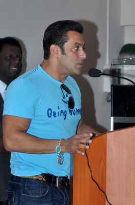 Salman Khan Speaks During The Charity Event At Holy Family Hospital