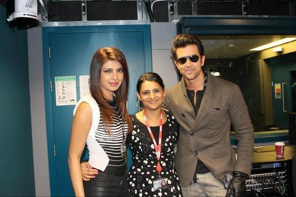 Hrithik and Priyanka Promote Krrish 3 At The BBC Asian Network In London
