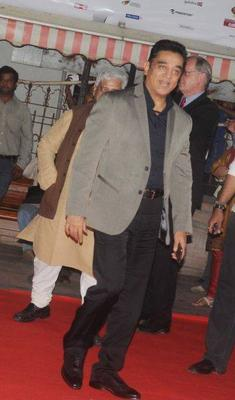 Kamal Haasan Stylish Look In Red Carpet At 15th Mumbai Film Festival Opening Ceremony