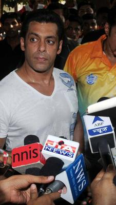 Salman Khan Addresses The Media About Sports At Milind Deora Annual Junior Soccer Challenger Event