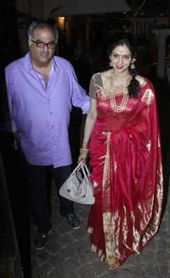 Sridevi And Boney Spotted After Karwa Chauth At Anil Kapoor's Residence
