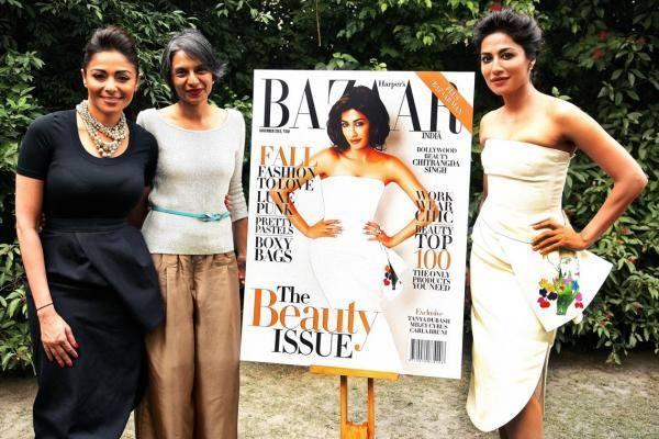 Chitrangada Singh Unveils The New Harper's Bazaar Cover 2013 Issue