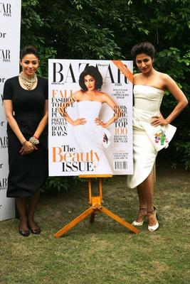 Chitrangada Singh Unveils Harper's Bazaar Cover 2013 Issue