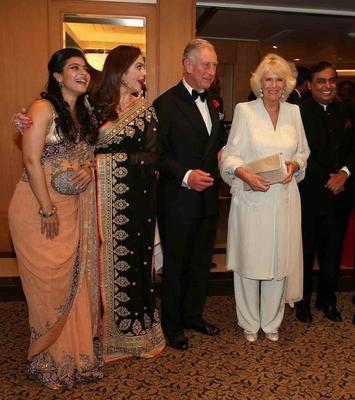 Kajol And Nita Ambani Pose With Royal Couple Prince Charles And Camilla