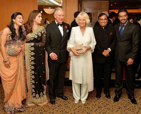 Kajol And Ajay With Prince Charles And Camilla At A Reception For The British Asian Trust