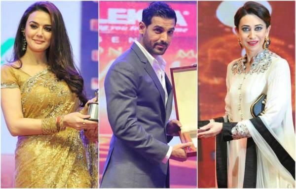 Karishma,Preity And John Awarded At Asiavision Movie Awards 2013