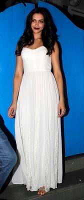 Deepika Padukone Looked Elegant In A White Maxi Dress At Finding Fanny Fernandes Movie Completion Bash