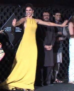 Cute Deepika Ram-Leela Dance Pose During The The Marrakech Film Festival