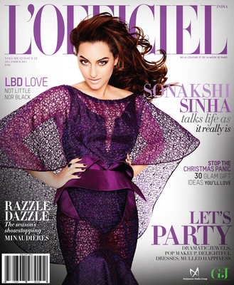 Hot Sonakshi Sinha Covers L'Officiel's December Issue 2013