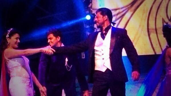 Madhuri And SRK Dance Performance At Access All Areas Concert 2013 In Dubai