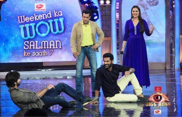 Shahid Kapoor Ans Sonakshi Sinha On Bigg Boss Sath 7