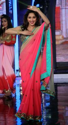 Dancing Diva Madhuri Dixit Performs During The Promotion Of The Movie Dedh Ishqiya, On The TV Reality Show Bigg Boss 7
