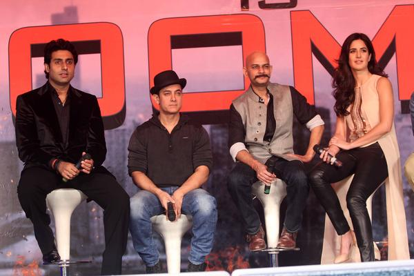 Abhishek,Aamir,Vijay Krishna And Katrina Graced During The  Press Conference Of Dhoom 3