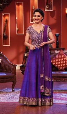 Actress Madhuri Dixit On The Sets Of Comedy Nights With Kapil To Promote Dedh Ishqiya