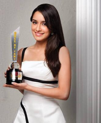 Cute Actress Shraddha Kapoor In Dior Outfit At The Hello! Hall Of Fame Awards 2013