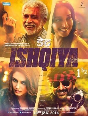 Madhuri,Naseeruddin,Arshad And Huma On Dedh Ishqiya Movie Poster