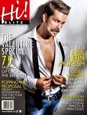 Actor Neil Nitin Mukesh Covers Hi Blitz February 2014 Issue
