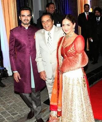 Dharmendra,Esha And Bharat Attend Grand Sangeet Ceremony Of Ahana Deol