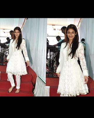 Cutie Ileana D'Cruz Looks Nice In White Dress At Anurag Basu's Saraswati Puja