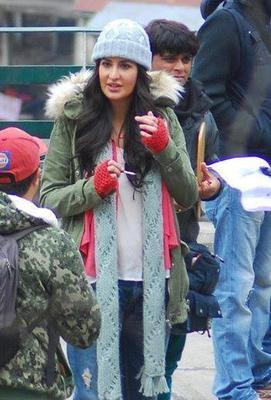 Katrina And Hrithik On The Sets Of Bang Bang Movie In Shimla
