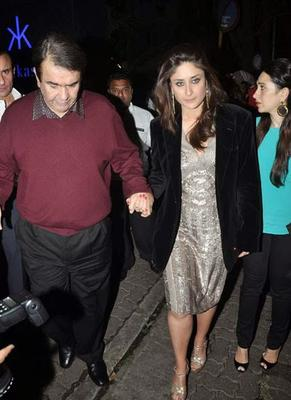 Saif, Kareena And Karisma At Randhir Kapoor's Birthday Bash