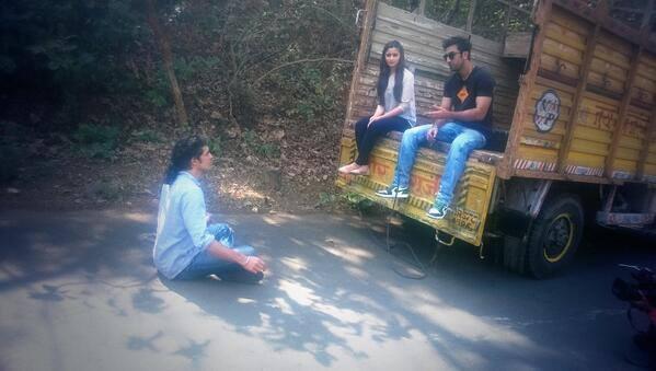 Ranbir Kapoor And Alia Bhatt On The Set Of Times Now