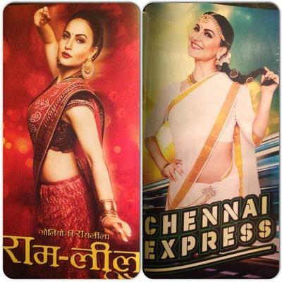 Elli Avram Reproduces Deepika's Looks From Ram Leela And Chennai Express