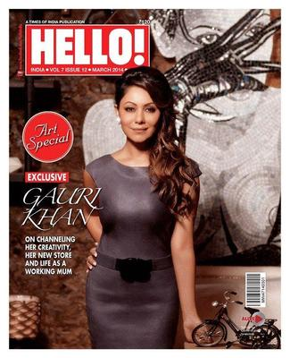 Sizzling Gauri Khan On The Cover Of Hello! India Magazine March 2014 Issue