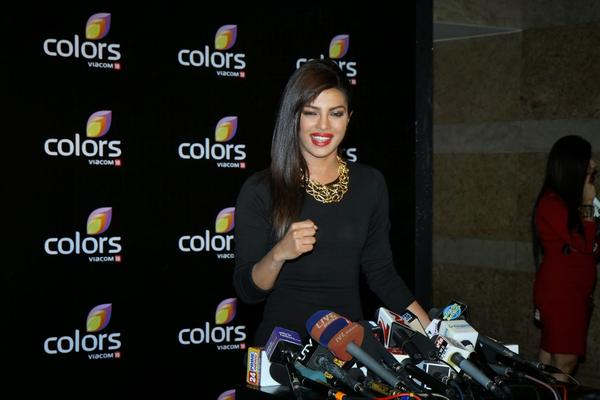 Priyanka Chopra Addresses The Media At Colors Anniversary Bash 2014