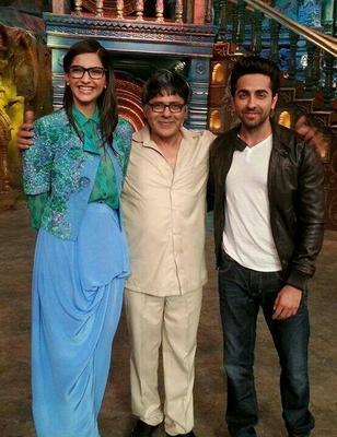 Sonam And Ayushmann Khurana At Bewakoofiyaan Promotions