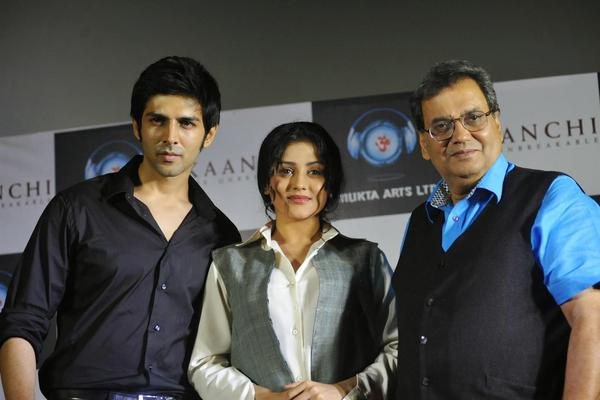 Kartik,Mishti,Subhash Ghai And Imtiaz Ali At Kaanchi Movie First Look Launch Event