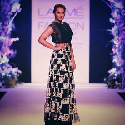 Sonakshi Sinha For Manish Malhotra At Lakme Fashion Week 2014