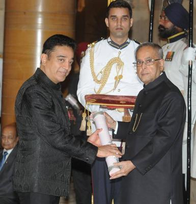 Vidya Balan And Kamal Haasan Receive Padma Awards