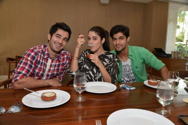 Tanuj Virwani,Aditya Seal And Izabelle Leite Lunch At Neel In Andheri