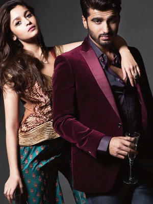 Alia Bhatt And Arjun Kapoor On Harper's Bazaar Bride April 2014 Magazine.
